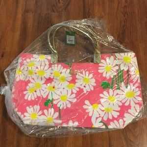 NWT Lilly Pulitzer See Be Seen Lg Tote Look Lady
